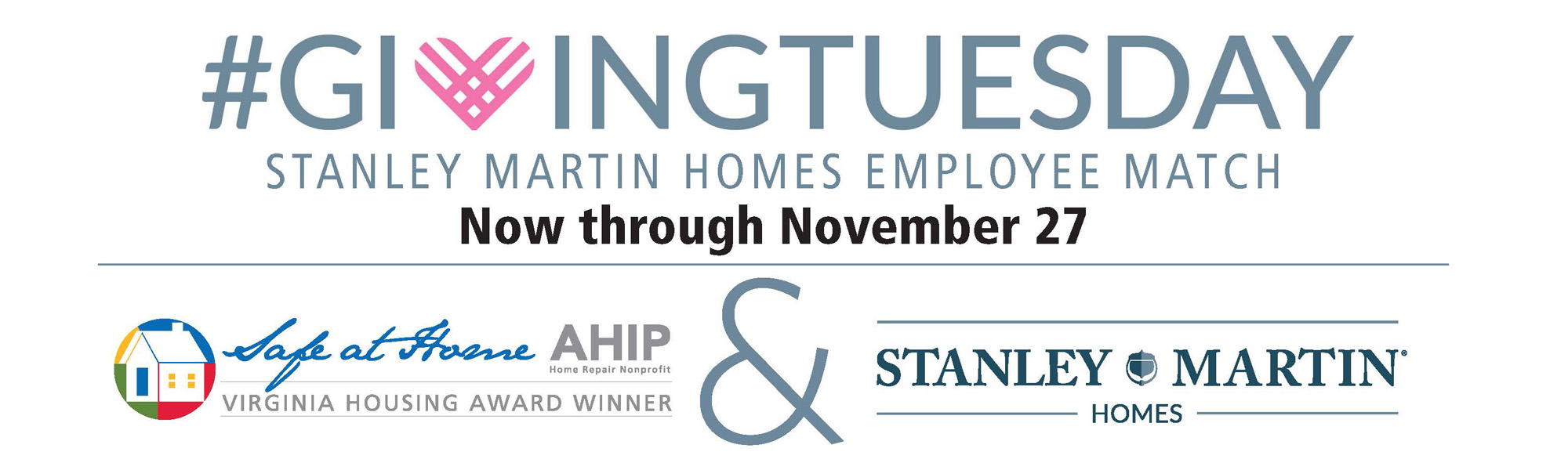 #GivingTuesday Stanley Martin Employee Match