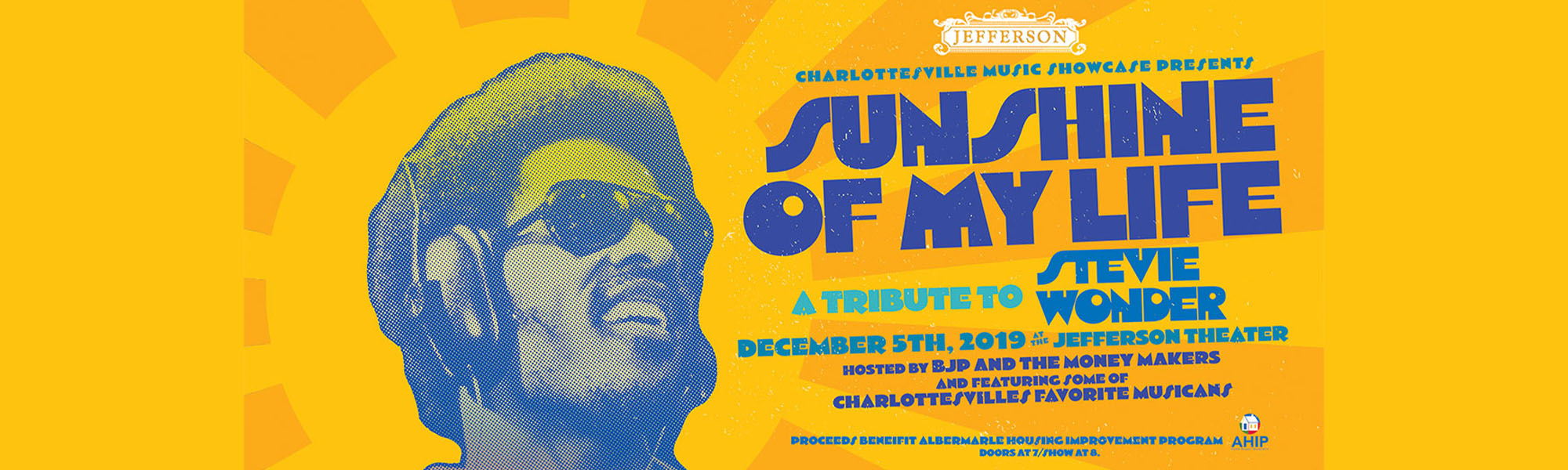 December 5 Stevie Wonder Tribute Concert at Jefferson Theater Benefiting AHIP