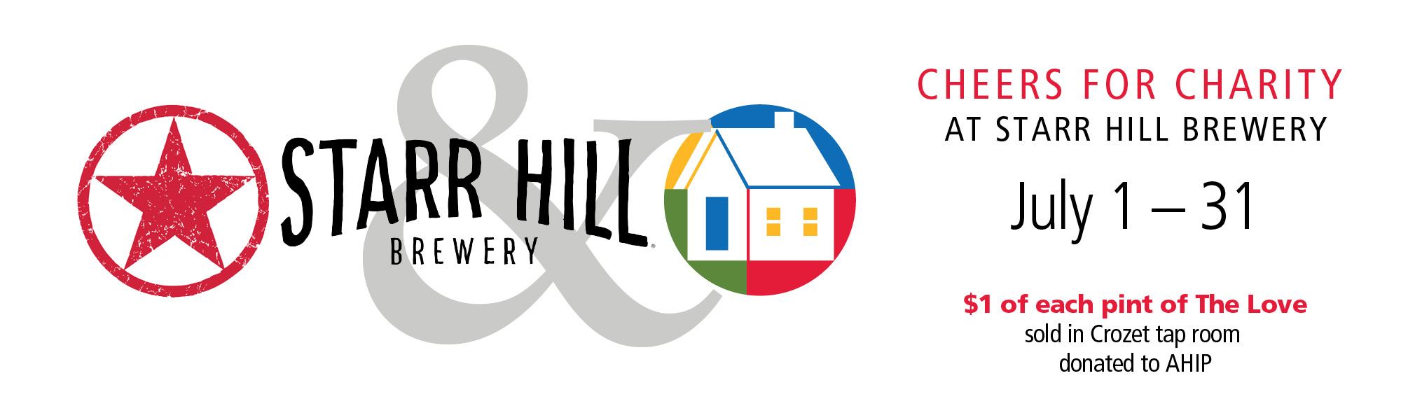 AHIP Is July 'Cheers for Charity' Beneficiary at Starr Hill's Crozet Taproom